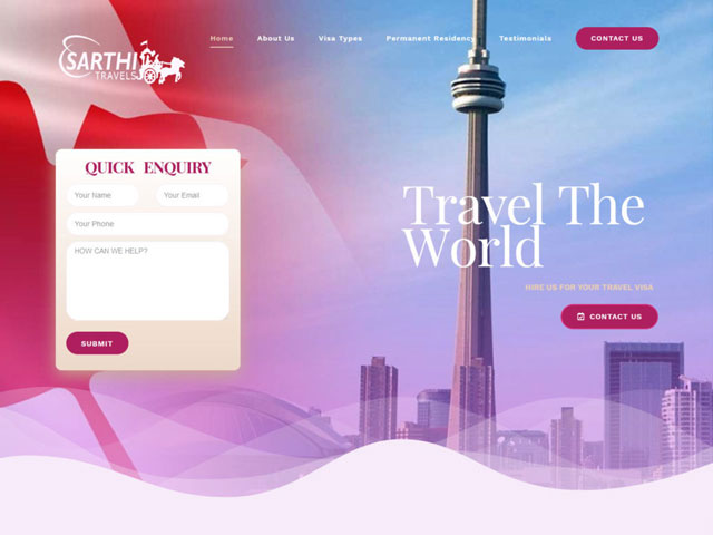 Tour Travel Visa Website design